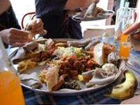 食事をシェアする、エチオピアの作法