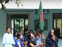 バングラデシュの国旗でいっぱいに