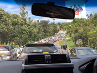 sカンパラの渋滞