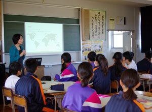 日本の小学校での授業