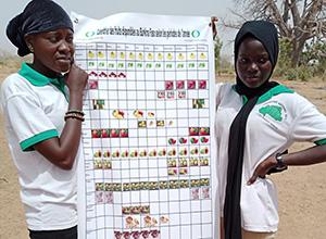 若者らが作ったフルーツカレンダー