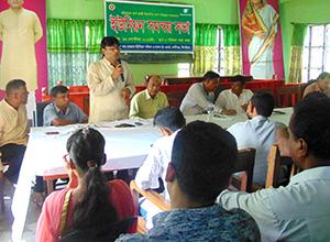地方自治体と住民のミーティング