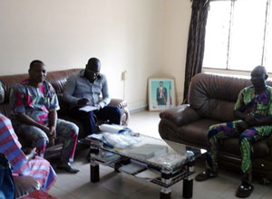 A meeting with the officials from the Ministry of Zé County District